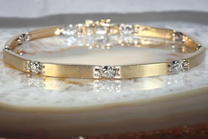 Brillantarmband Gold 585  18 cm