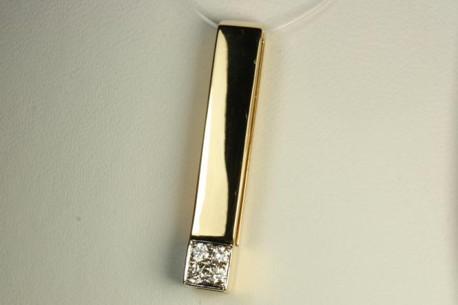 Brillant Stab Anhänger Gold 750