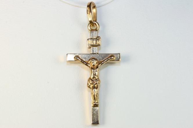 Jesus Kreuz Korpus Gold 750