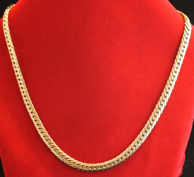 heringbone goldkette 585 unisex mit zertifikat second hand schmuck. Black Bedroom Furniture Sets. Home Design Ideas