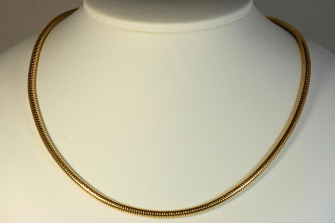 Schlangenkette Gold 585 42 cm 21 Gramm