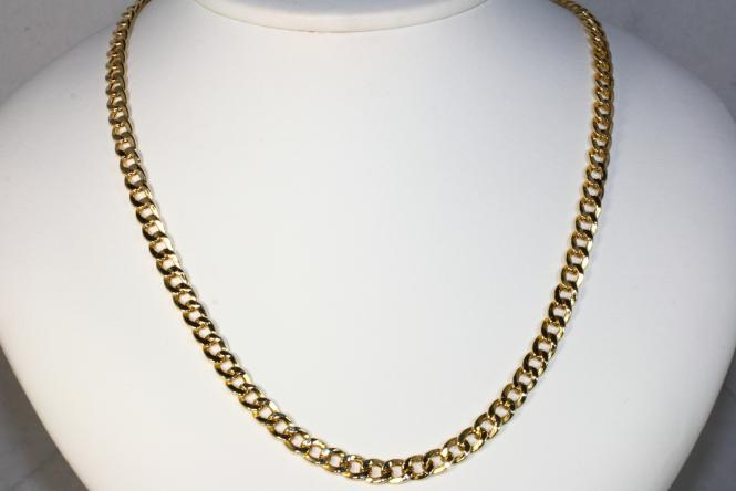 Flachpanzerkette Gold 585 50 cm x 5 mm