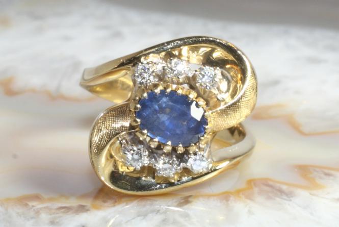 Saphir Ring Brillanten Fabio Giorgio Gold 750