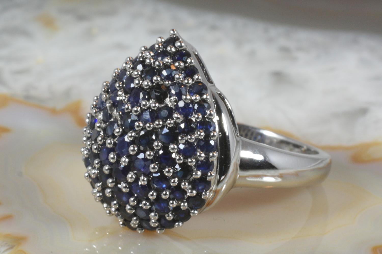 saphir ring wei gold 585 second hand schmuck. Black Bedroom Furniture Sets. Home Design Ideas