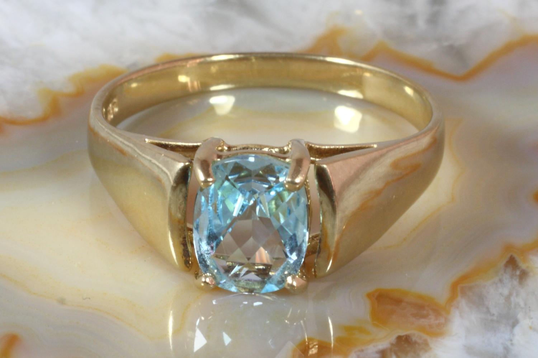 Aquamarin schmuck  Aquamarin Ring Gold 375 | Second Hand Schmuck