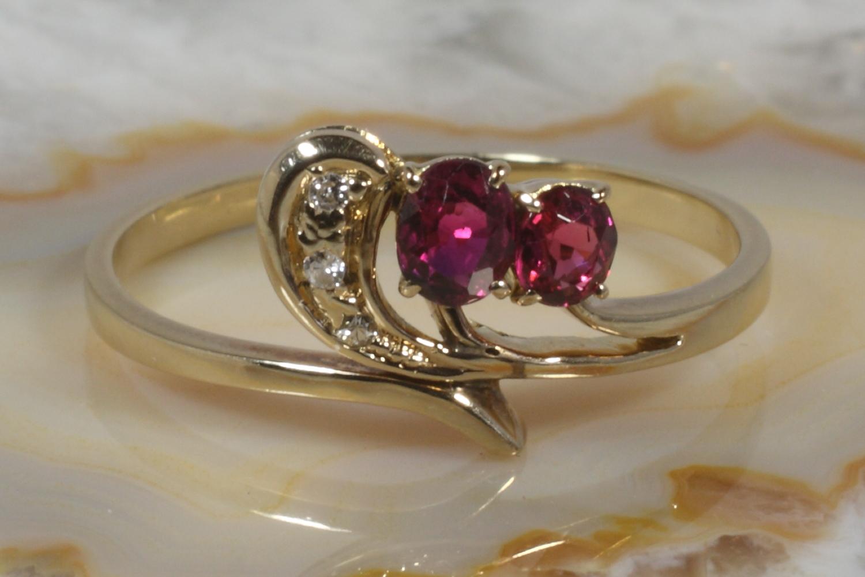 goldring 585 diamanten rubine second hand schmuck. Black Bedroom Furniture Sets. Home Design Ideas