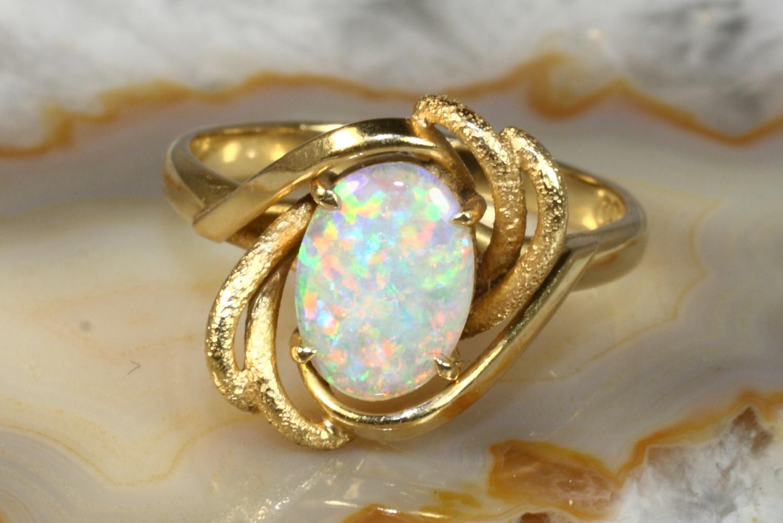 opal ring gold 750 second hand schmuck. Black Bedroom Furniture Sets. Home Design Ideas