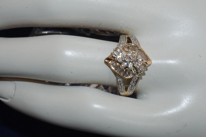 diamant ring brillant baguetteschliff second hand schmuck. Black Bedroom Furniture Sets. Home Design Ideas