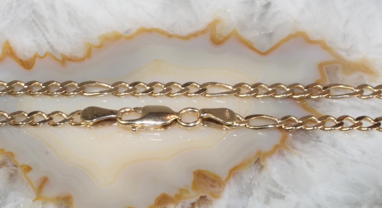 figarokette gold 585 48 5 cm second hand schmuck. Black Bedroom Furniture Sets. Home Design Ideas